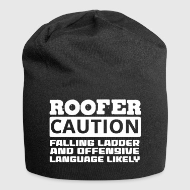 Roofing: Roofer. Caution. Falling Ladder And - Jersey Beanie