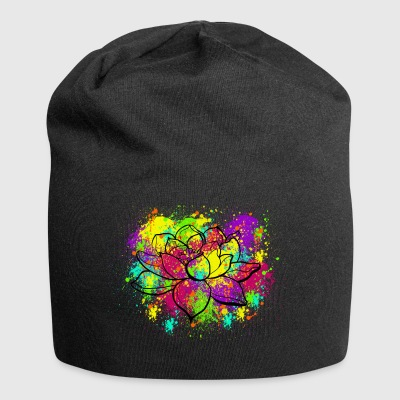 Splatter Lotus - Beanie in jersey