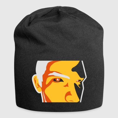 Face Of A Man Spying - Jersey Beanie