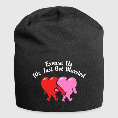 Just Married Excuse Us - Jersey Beanie