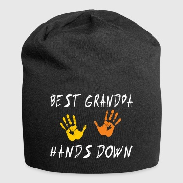Best Grandpa Hands Down - Jersey Beanie