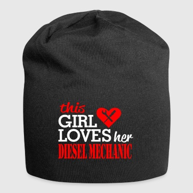 This  loves her diesel mechanic - - Jersey Beanie