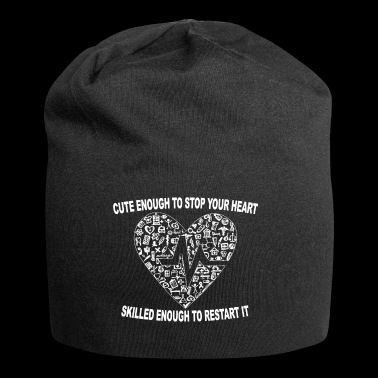 Cute Enough To Stop Your Heart, Skilled Enough ... - Jersey Beanie
