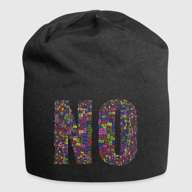 no but yes but no - Jersey Beanie