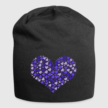 Heart of hearts in blue valentines day - Jersey Beanie