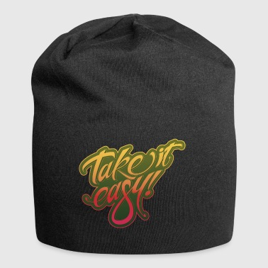 Take it easy yellow-red - Jersey Beanie