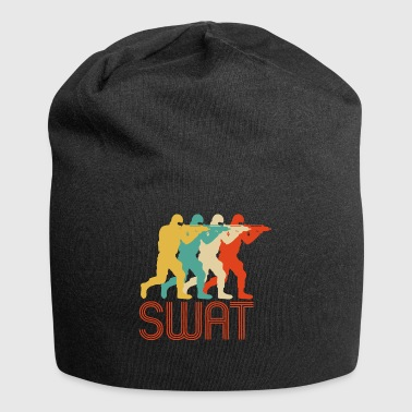 Retro Pop Art Swat Team. CO19. Oficial de Police.Swat - Gorro holgado de tela de jersey