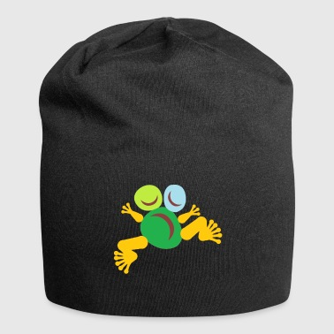 Frog Green Totem - Jersey-Beanie