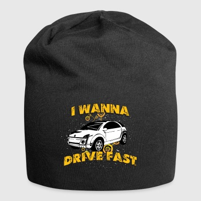I wanna drive fast small ugly car - Jersey Beanie