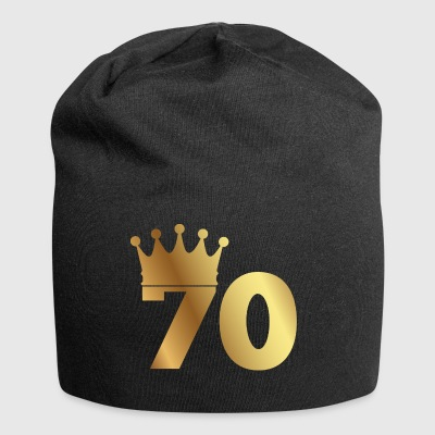 70th birthday: 70 with crown - Jersey Beanie