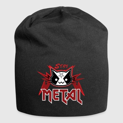 Metallo Cat - Stay Metal (Red Edition) - Beanie in jersey