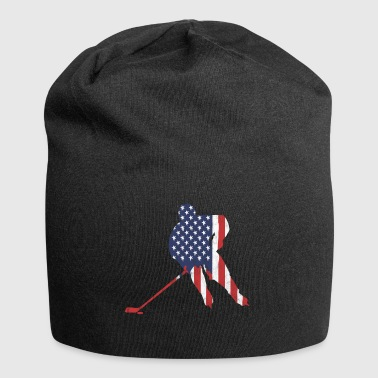 Hockey USA Stars & Stripes hockeyspiller - Jersey-beanie