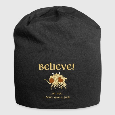 BELIEVE in the Flying Spaghetti Monster - Jersey Beanie