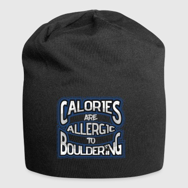 Bouldering calories are allergic to boulders - Jersey Beanie