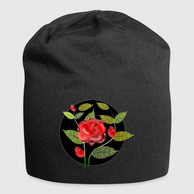 Rose ornament - Jersey Beanie