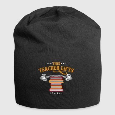 This teacher lifts weights - Jersey Beanie