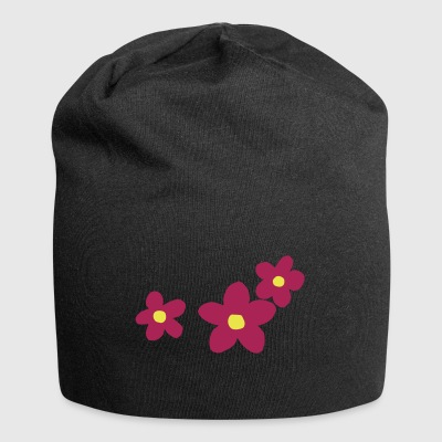 Flowerpower bicolore disegno floreale - Beanie in jersey