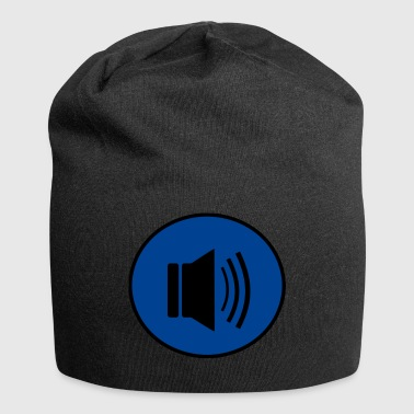 Audio button design - Jersey Beanie