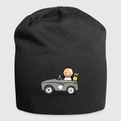 Baby in retro car - Jersey Beanie