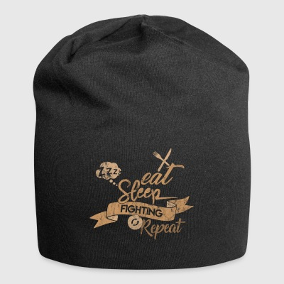EAT SLEEP FIGHTING REPEAT - Jersey Beanie