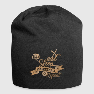Eat Sleep BASKET REPEAT - Beanie in jersey