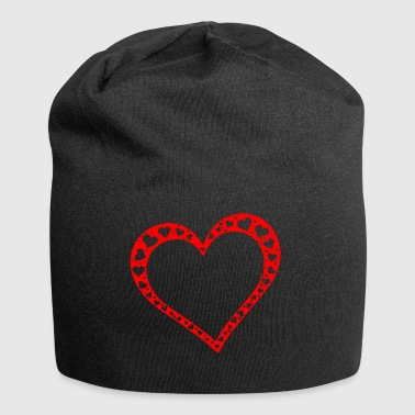 Heart Heart Love Love Valentine's Day Mother's Day Mom - Jersey Beanie