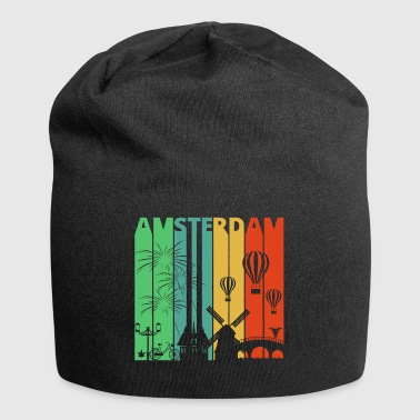 Vintage Retro Amsterdam.Explore.Holland.Europe. - Beanie in jersey