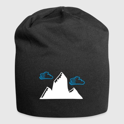 Mountain with clouds - Jersey Beanie