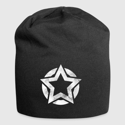 Star in circle grunge gift - Jersey Beanie