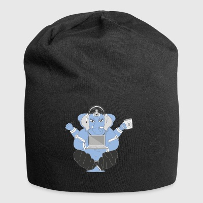 Elephant with laptop - Jersey Beanie