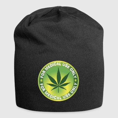 Cannabis Marihuana COIN Münze Symbol ICON - Jersey-Beanie