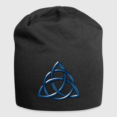 Celtic Encircled Triquetra Circle - Jersey Beanie
