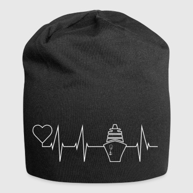 Cruise heartbeat, Crusader ship gift - Jersey Beanie