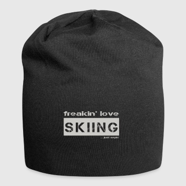 love SKIING - bright T-shirt - Jersey Beanie