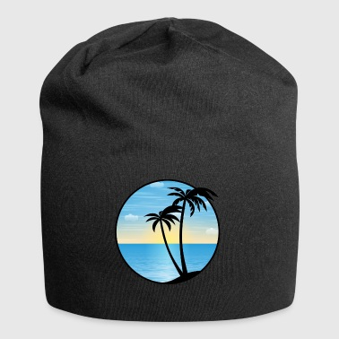 Palms Holiday 01 Allround Designs - Beanie in jersey