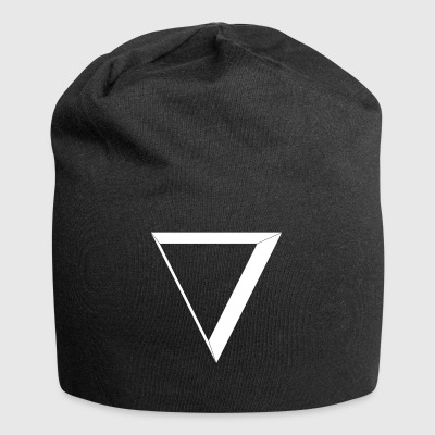 white triangle - Jersey Beanie
