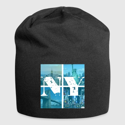NEW YORK BLEU - Bonnet en jersey