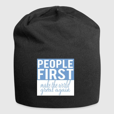 People first - make the world great again - Jersey Beanie