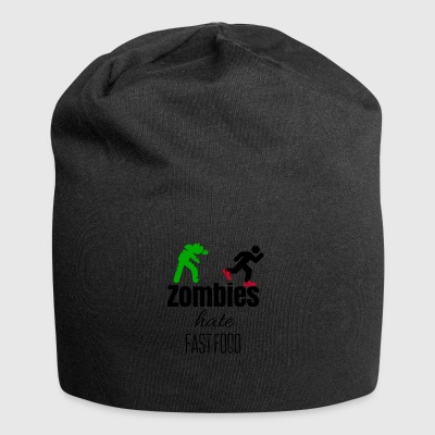 Zombies hate when their food run - Jersey Beanie