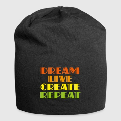 Dreamlive create repeat - Jersey Beanie