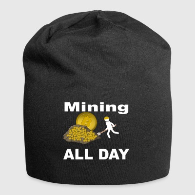 Mining Bitcoin BTC all day long White - Jersey-Beanie