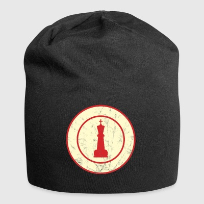 Chess / Chessboard: King - Used Look - Knitted - Jersey Beanie