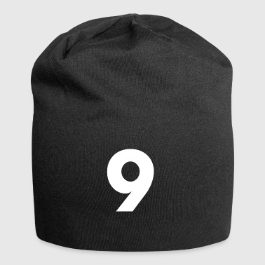 Numéro 9, numéro 9, 9, neuf, numéro neuf, neuf - Bonnet en jersey