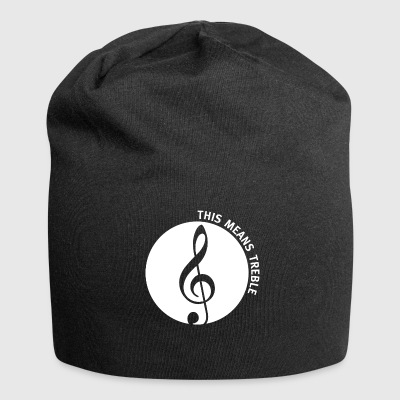 This means treble white print - Jersey Beanie