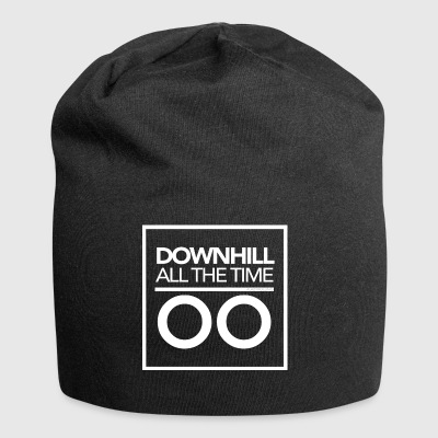 Downhill all the time - White - Jersey Beanie