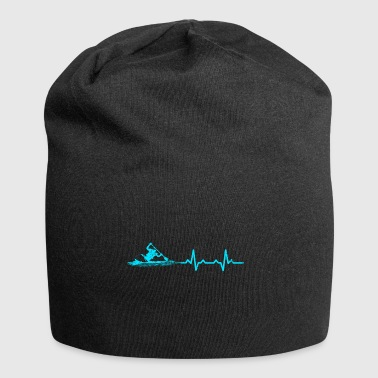 Canoeing heartbeat water sports gift kayak - Jersey Beanie