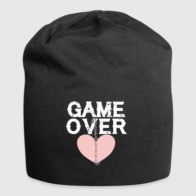 Love game over chain broken heart separation end - Jersey Beanie