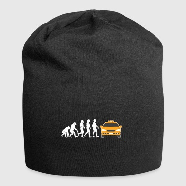 taxi driver evolution taxi driving car cab gift - Jersey Beanie