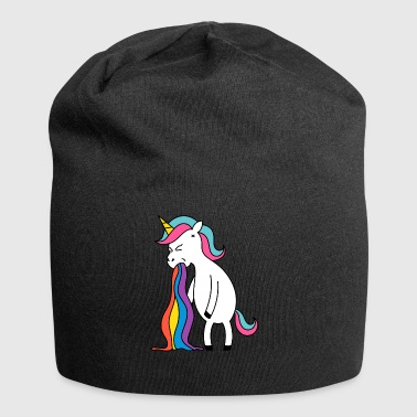 Unicorn rainbow puke. No buck Gagging - Jersey Beanie