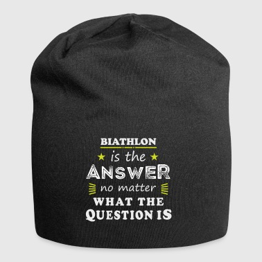 Biathlon Funny Saying Cool Sport Hobby Gift - Beanie in jersey
